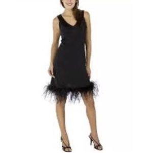 Target limited black sleeveless feather dress